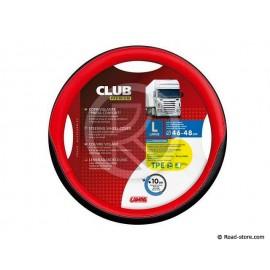 COUVRE-VOLANT 46-48 CLUB PREMIUM NOIR/ROUGE
