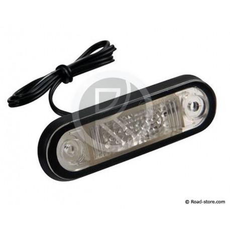 FEU GABARIT 2 LEDS 24V BLANC 80 X 22MM