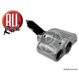 Dopplet Zigarettenanzünder Stecker + 2 USB 24V Max 5A