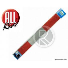 Reflektierendes Band Rot/Silber x2
