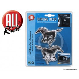 "DECORATION ""CHEVAL"" ADH CHROME X 2 PIECES"