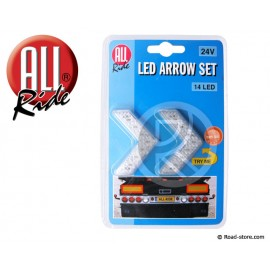 Decoration Two arrows 14 LEDS 24V Red