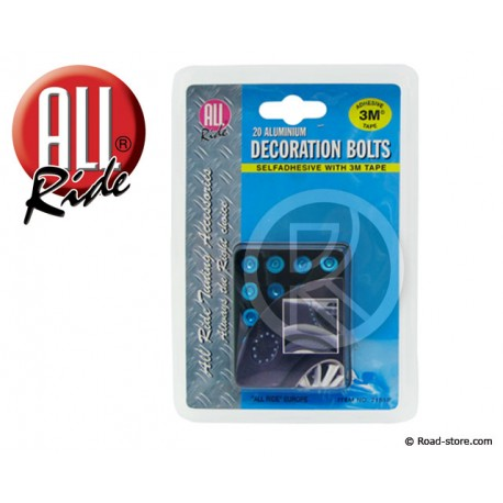 bolts silver/red/blue adhesives x 20 pcs