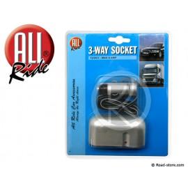 3 Way Socket 12/24V MAX 8A.