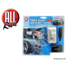 Tirple socket with remote control 12V max. 5Amp