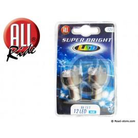 Bulb 12 LEDS BA15S 12V blue x2