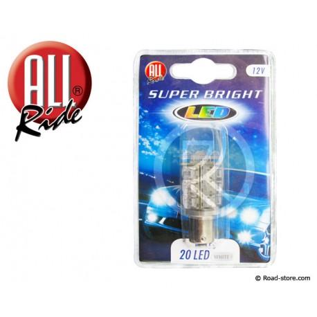 20 LEDS BA15S 12V white ba15S x1