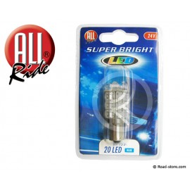 Glühlampe 20 LEDS BA15S 24 VOLTS Blau
