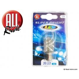 Glühbirne 20 Leds BA15S 12V Blau
