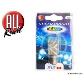 Bulb 20 Leds BA15S 12V Red