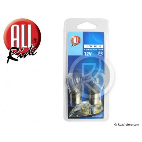 AMPOULE POIRETTE 12V 21/4W BAZ15D BLISTER X2