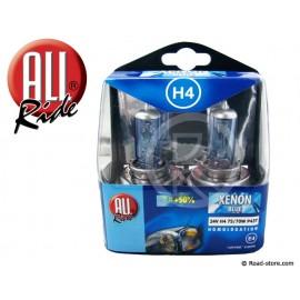 "Glühbirnen H4 P43T ""XENON BLUE"" 12V 60/55W x2"