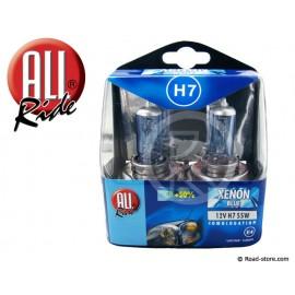 Spare bulbs H7 12V 55W Xenon Blue x2