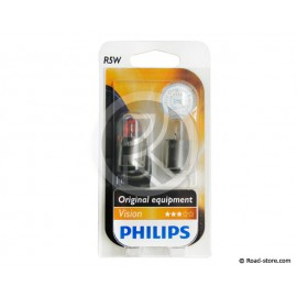 AMPOULE GRAISSEUR BA15S 5W 12V 1 PLOT x2 (PHILIPS)