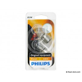 AMPOULE POIRETTE BA15S 21W 12V x2 (PHILIPS)