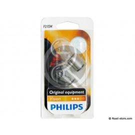 AMPOULE POIRETTE BAY15D 21/5W 12V x2 (PHILIPS)
