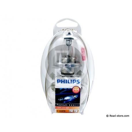 COFFRET AMPOULE H4 12V 5 AMPOULES + 1 FUSIBLE (PHILIPS)