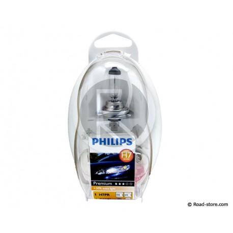 COFFRET AMPOULE H7 12V 5 AMPOULES + 1 FUSIBLE (PHILIPS)