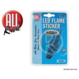 LED flame sticker blue 12V