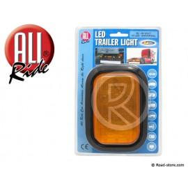Rear light 12 led 10-30V 11x16cm orange