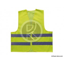 GILET DE SECURITE REFLECHISSANT JAUNE TU XL