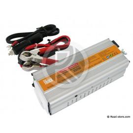 CONVERTISSEUR 350W 12/24V EN 230V DC/AC + PORT USB 5V PRIM'TRUCK