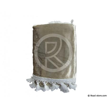 RIDEAUX DE COUCHETTE CENTRAUX 1,20 x 1,55m BEIGE (set 4 pces)
