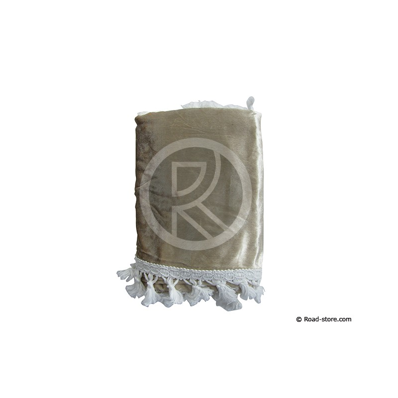 RIDEAUX DE COUCHETTE CENTRAUX 1,20 X 1,55m BEIGE (set 4 Pces