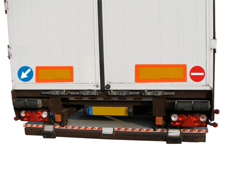 Set de 2 panonceaux autocolants sécurité routière 150 mm