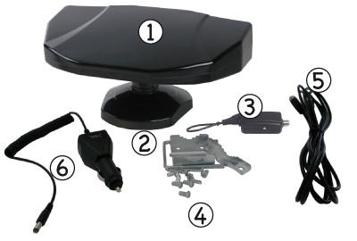 antenne tv 360 mixte 12 24v int ext base magnetique road store. Black Bedroom Furniture Sets. Home Design Ideas