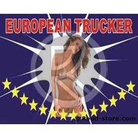 Flag Trucker Pin Up 145 cm x 90 cm