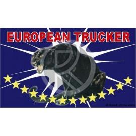 DRAPEAU FOND DE CABINE EUROPEAN TRUCKER PANTHERE