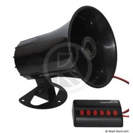 Sirene mit 6 Signalen - die Hupe, die fast alles kann - 12V