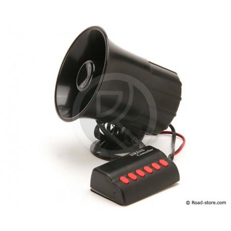 Siren 6 sound 24 Volts DC 20 Watts
