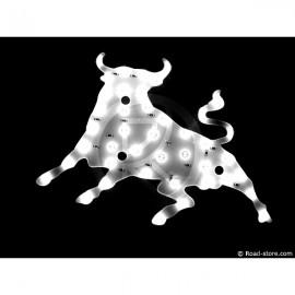 DECORATION TAUREAU LUMINEUX A LEDS 12V BLANC