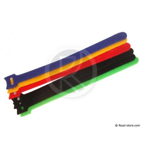 6 Reise-Kabelbinder mit Klettverschluss