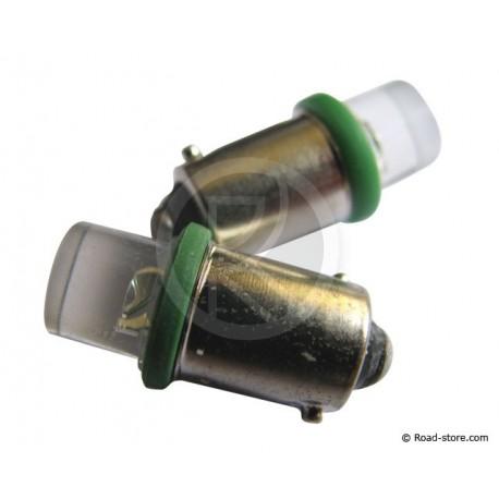 AMPOULE 1 LED BA9S 12V VERTE X 2