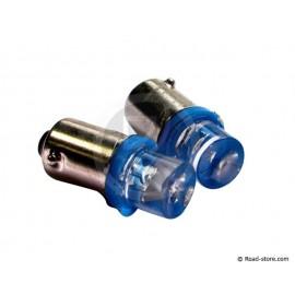 1 LED BA9S 24V blau x2