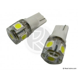 AMPOULE 5 SMD LEDS WEDGE BASE T10 24V BLANCHE X2