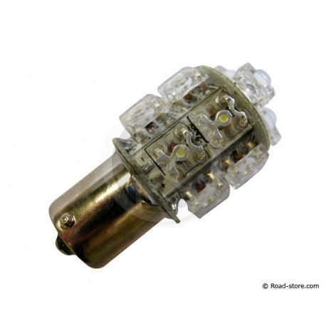 AMPOULE 13 LEDS BA15S 24V JAUNE ORANGE