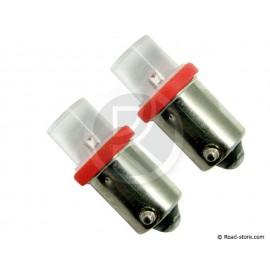 Bulb 1 LED BA9S 24V Red X2
