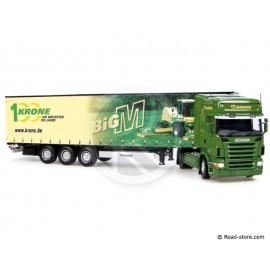 Scale Model 1:50 scania R580 + trailer krone big M UH