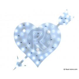 Dekoration Herz LEDS 24V Weiß