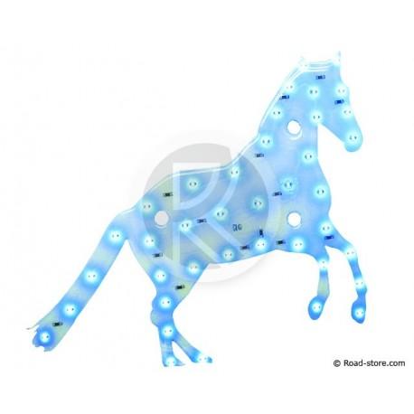 Dekoration Pferd LEDS 12V Blau