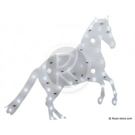 DECORATION CHEVAL LUMINEUX A LEDS 12V BLANC