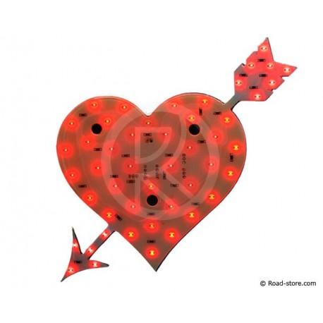 Decoration coeur lumineux a leds 24v rouge road store - Decoration coeur rouge ...