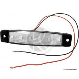 Seitenleuchten Extra Flach 6 LEDS 24V Weiß (9,6x2x0,7cm)