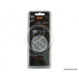SUPPORT POPPY LUMINEUX ADHESIF 5 LEDS BLANC 12/24V