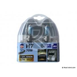 AMPOULE H7 24V 70W XENON ULTRA BRIGHT BOITE DE 2