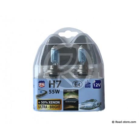 AMPOULE H7 12V 55W XENON ULTRA BRIGHT BOITE DE 2